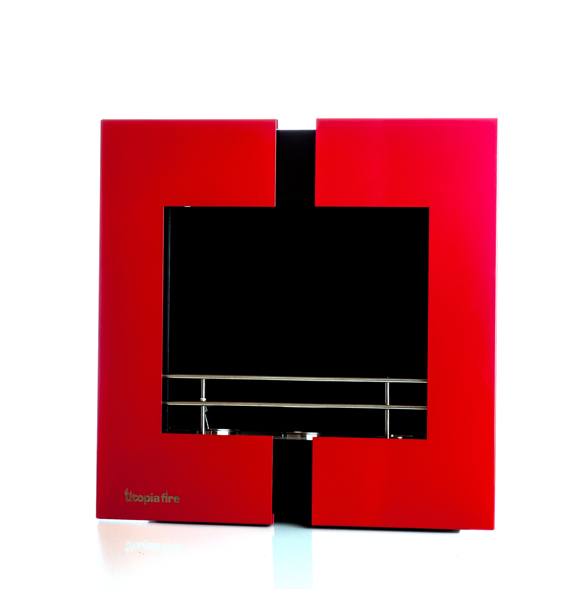 Fireplace Red Square Wallmount