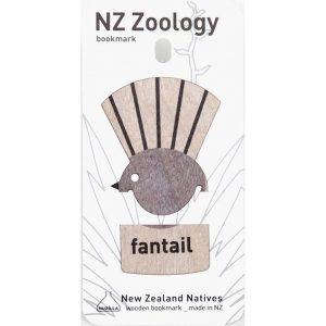 Wood Printed Bookmark Fantail