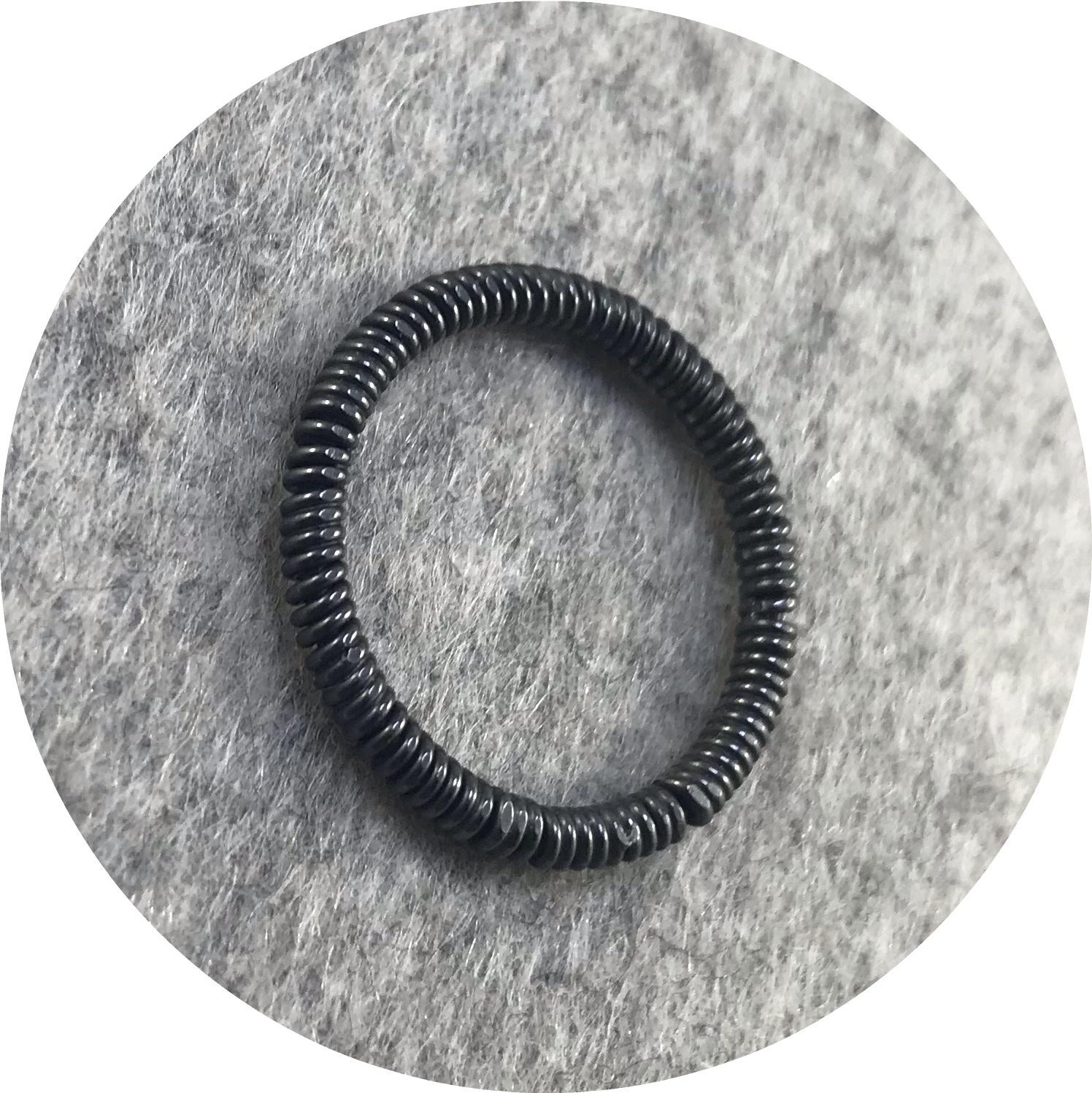 Laura Eyles - 'Rope Ring' oxidised 925 silver M