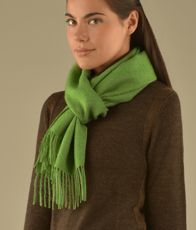 LONG BRUSHED SCARF GREEN VR12951
