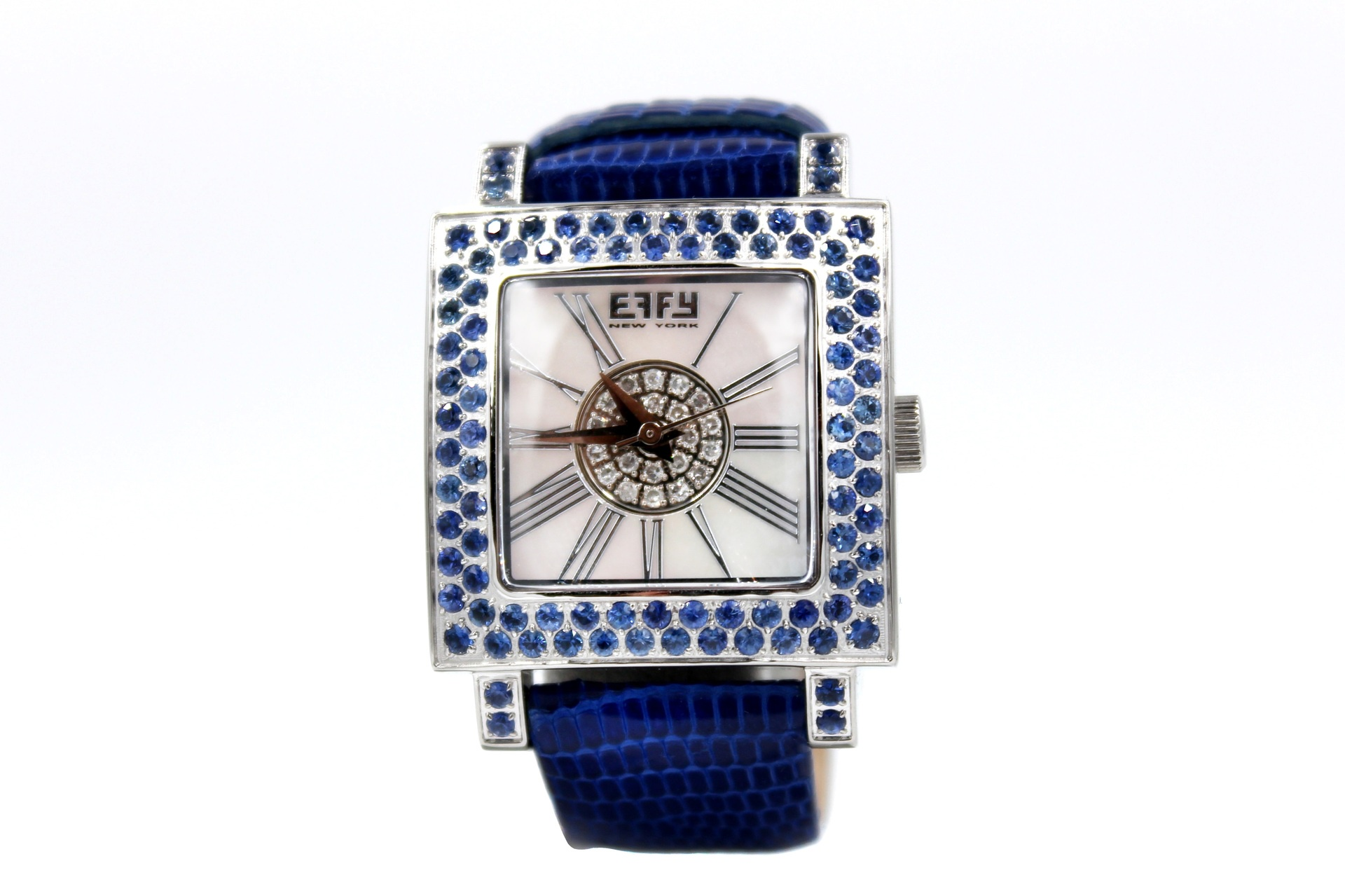 Effy Time Square Sapphire Mother-of-Pearl Dial Unisex Watch