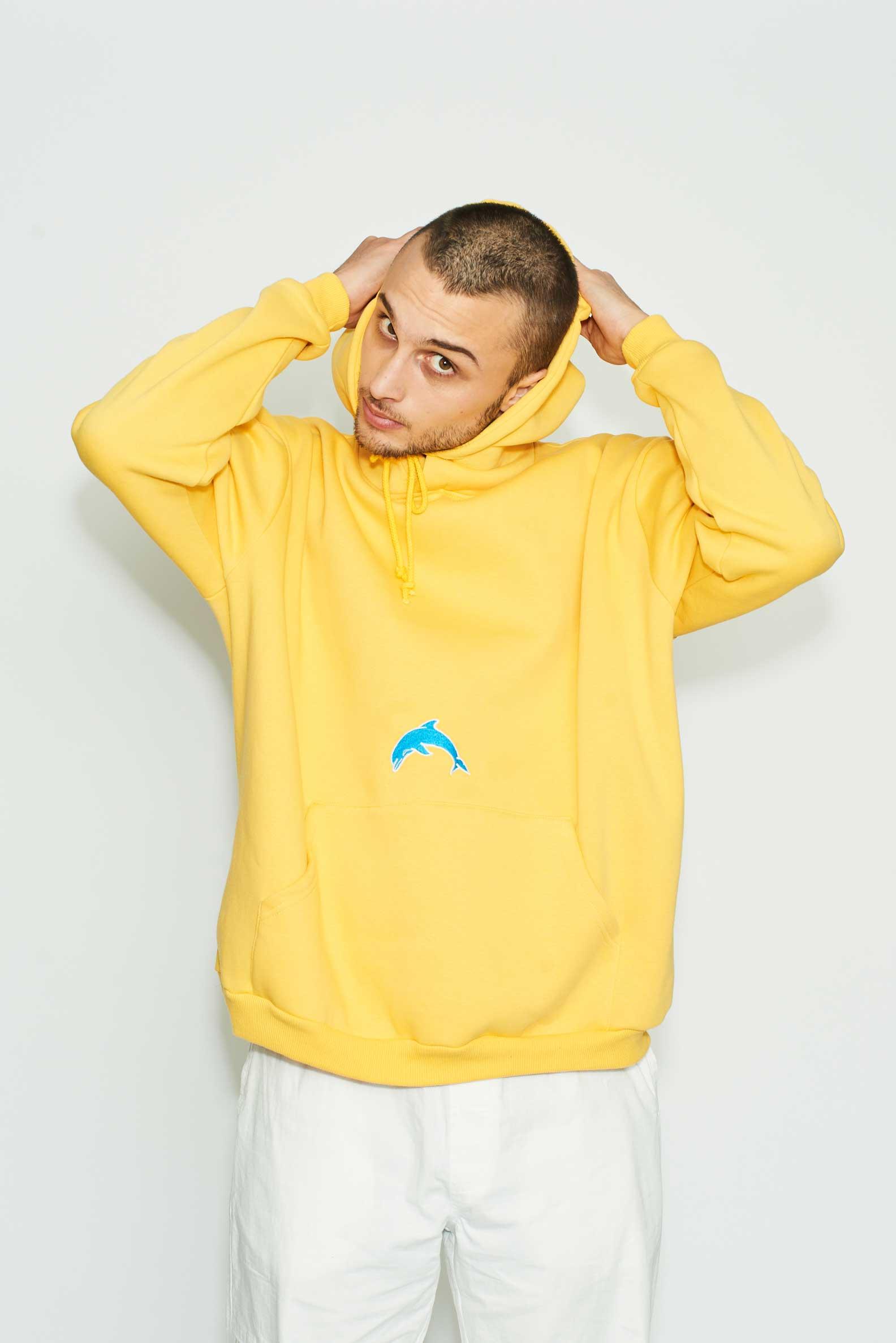 Herotic - Dolphin Hoodie - Yellow