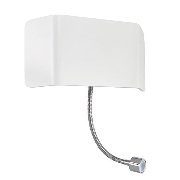 Verona 1lt wall & flexi 7.5W & 1W SW warm white - matt white