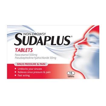 SUDAPLUS NON-DROWSY TABLETS 15'S