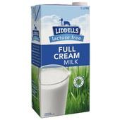 Liddells Milk Full Cream Lactose Free 1L