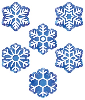 CTP 6414 SNOWFLAKE 2-SIDED DECO