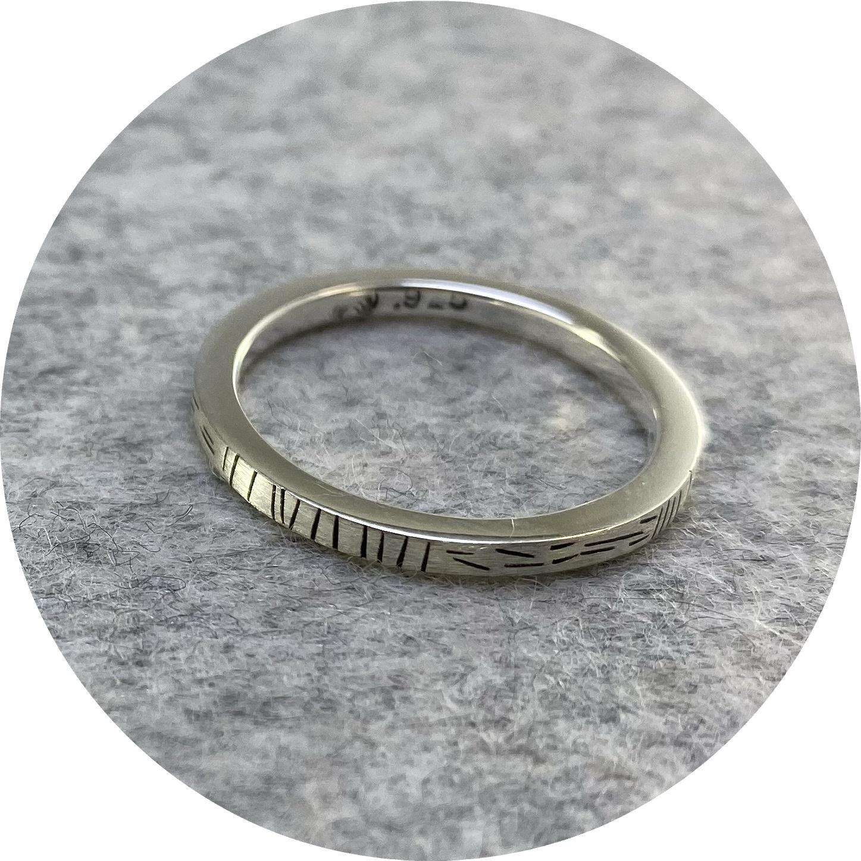 Susan Ewington - 'Fine Lines Ring', 925 silver N