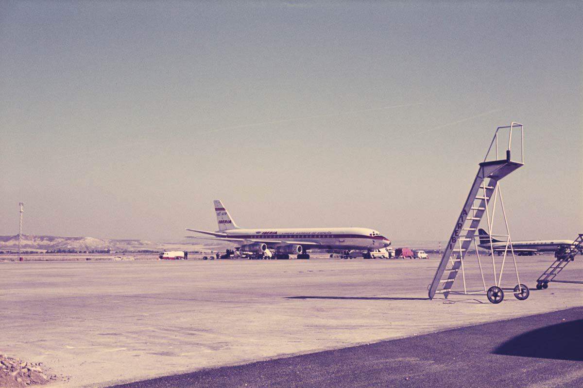 Iberia Plane At Barajas Airport