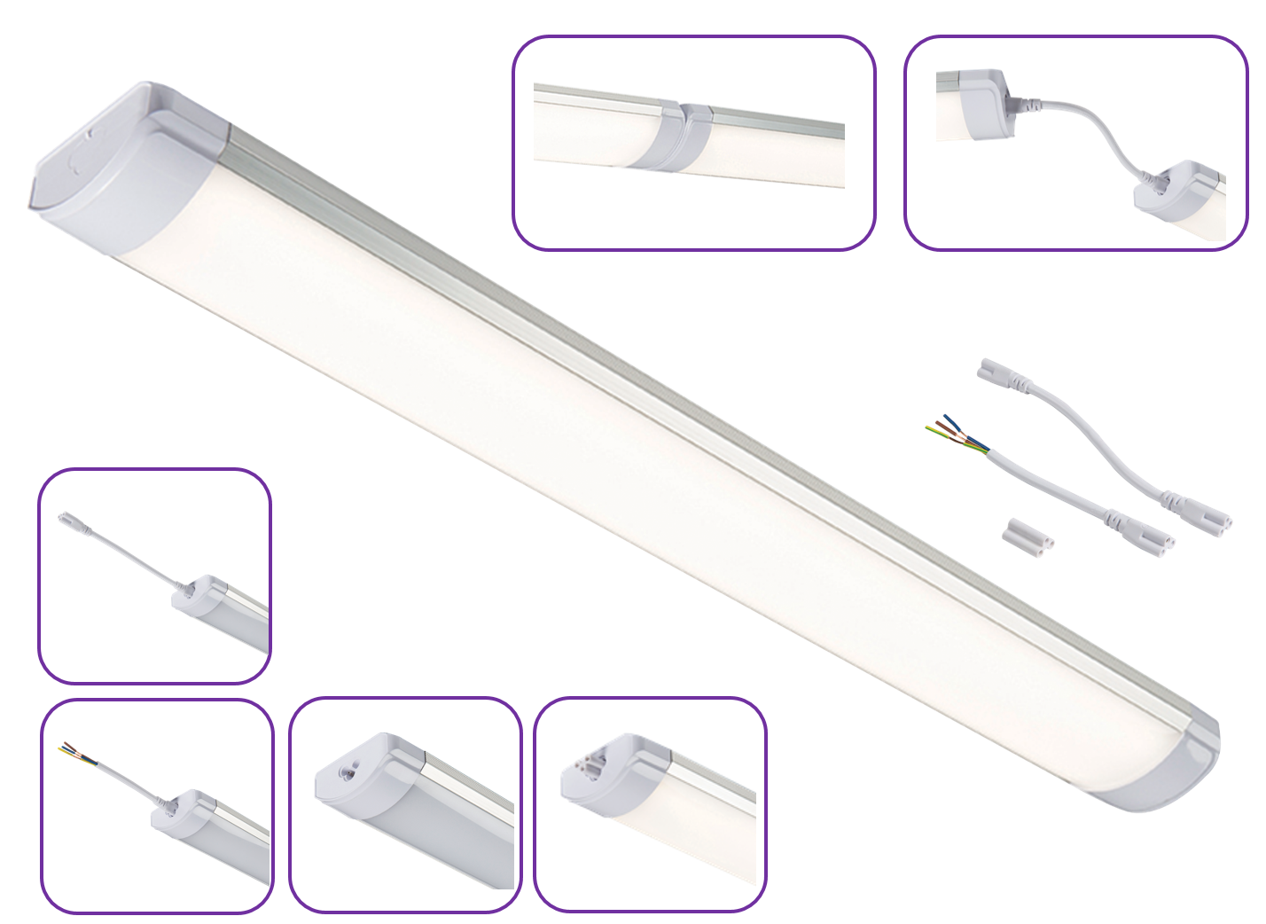 230V LINEAR LED BATTEN 55W 1480mm IP40