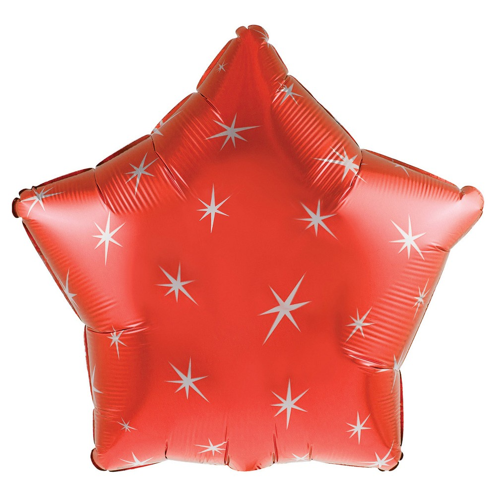 RED SPARKLE STAR 17 INCH FOIL BALLOON