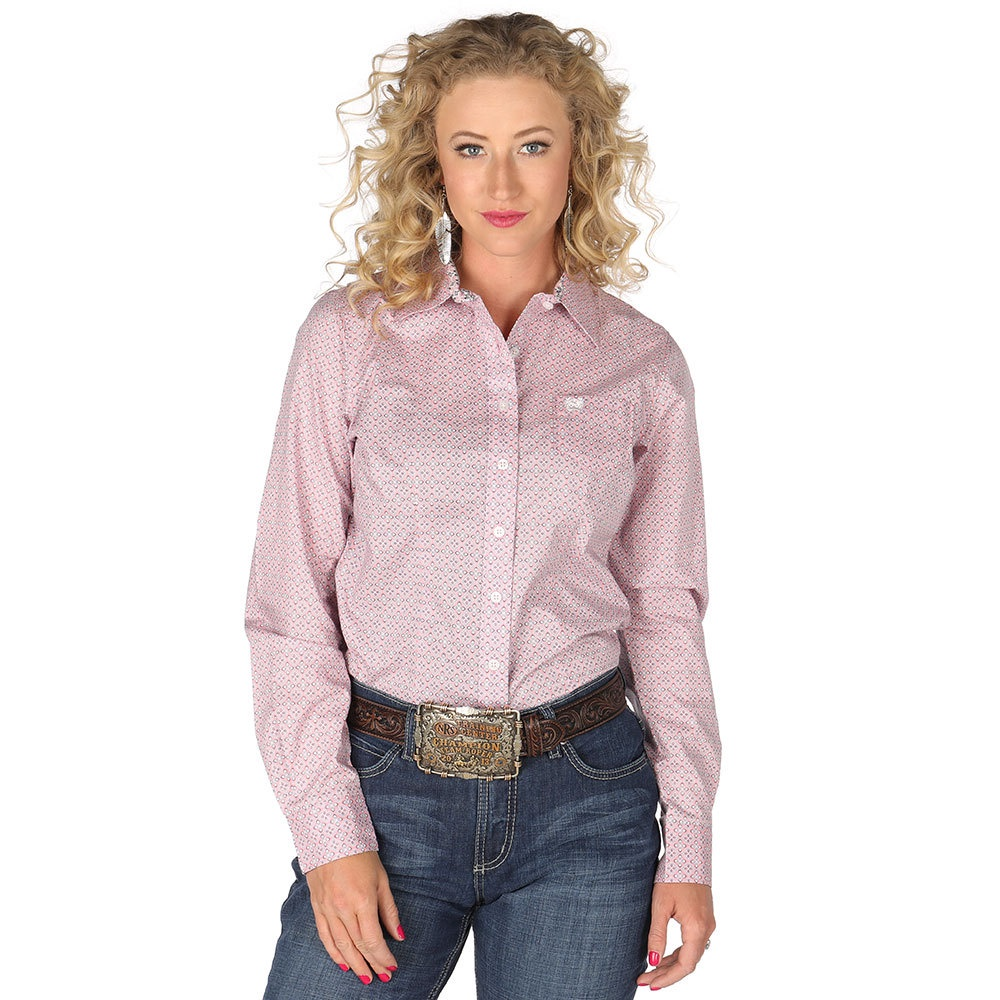 01aaff19fa Cinch Women's Shirt Melinda Pink Print