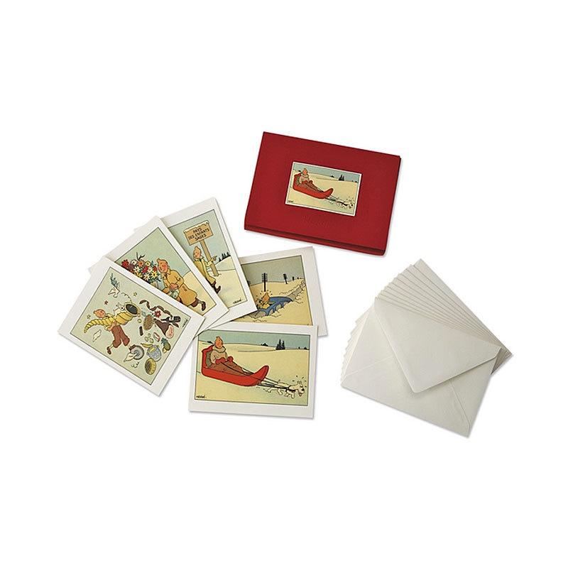 Tintin Christmas Cards Boxed Set