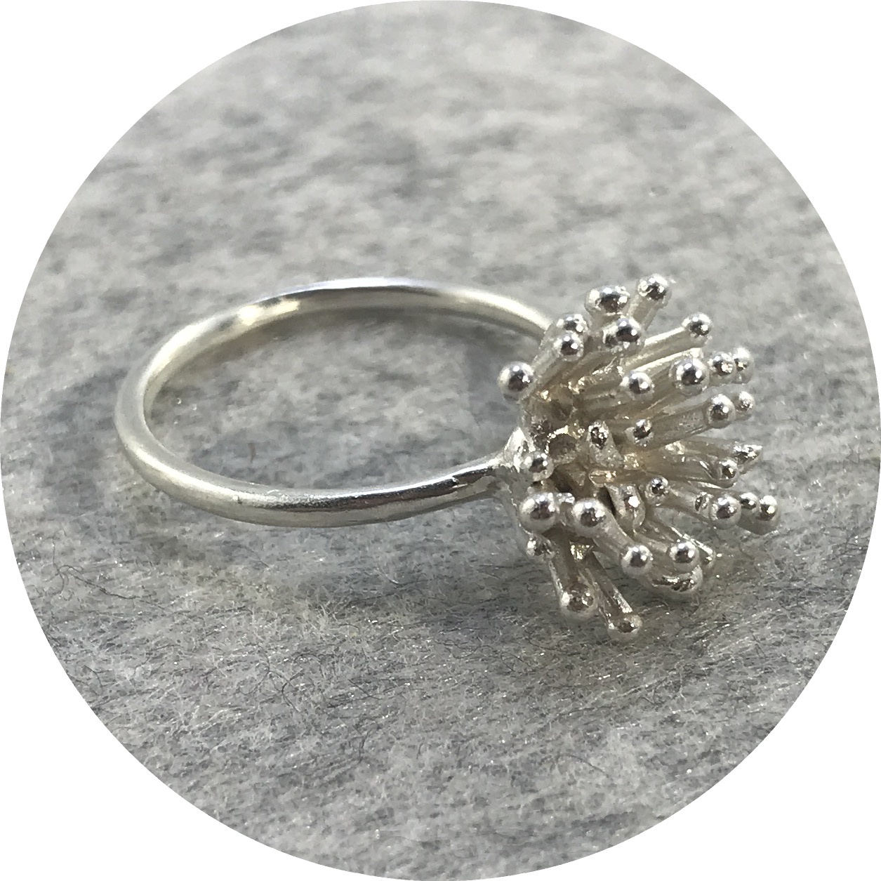 Katie Shanahan - Sterling Silver Anemone Ring