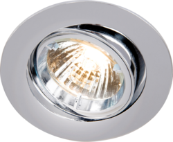TILT CHROME TWIST-LOCK DOWNLIGHT GU10/MR16