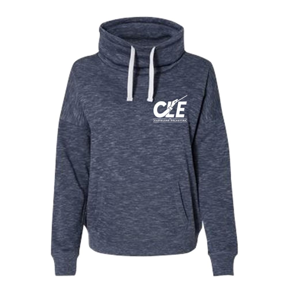 Women's CLE Cowl Neck Sweatshirt