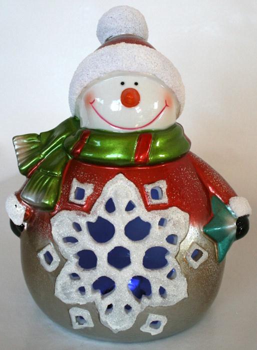 Ceramic Snowman 20cm
