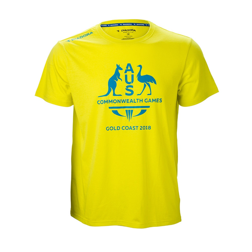 Team Australia Men's Logo T-Shirt Yellow