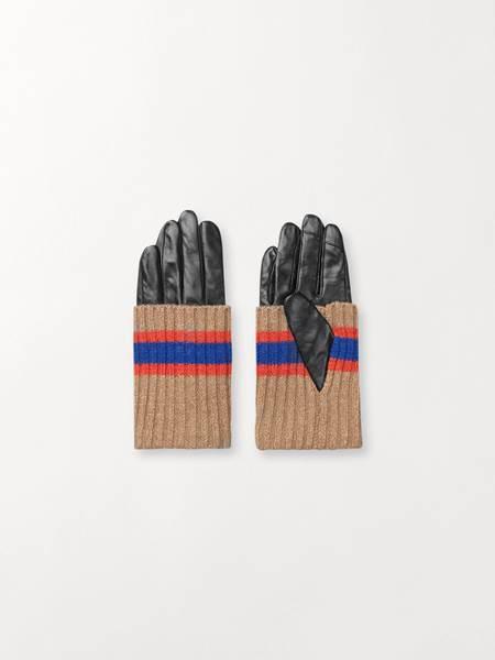 Becksöndergaard Glitsa Glove Leather Red Size 7