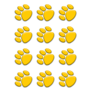 TCR 5120 GOLD PAW PRINT MINI CUTOUTS