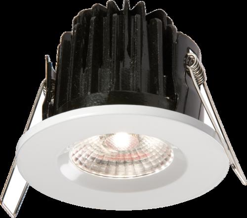 IP65 7W LED 4000K Cool White Downlight with White Bezel