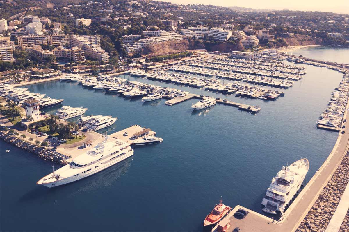 Puerto Portals Drone View