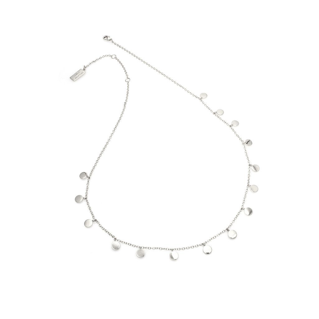 MELANIE AULD - MINI DISCS NECKLACE IN SILVER