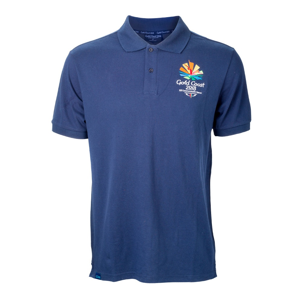 Gold Coast 2018 Men's Emblem Pique Polo