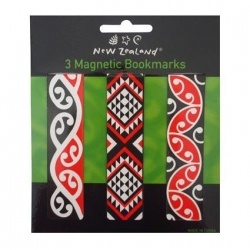 Magnetic Bookmark Maori 3pc