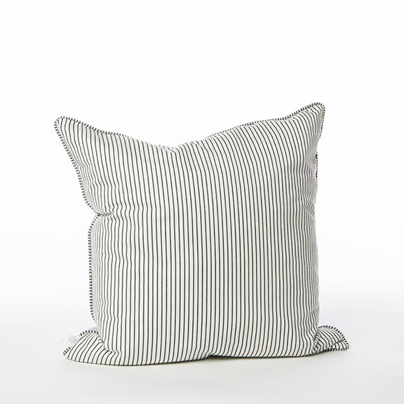 BLACK STRIPE CUSHION COVER