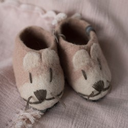 FELT MOUSE SLIPPERS LARGE - QUARTZ PINK