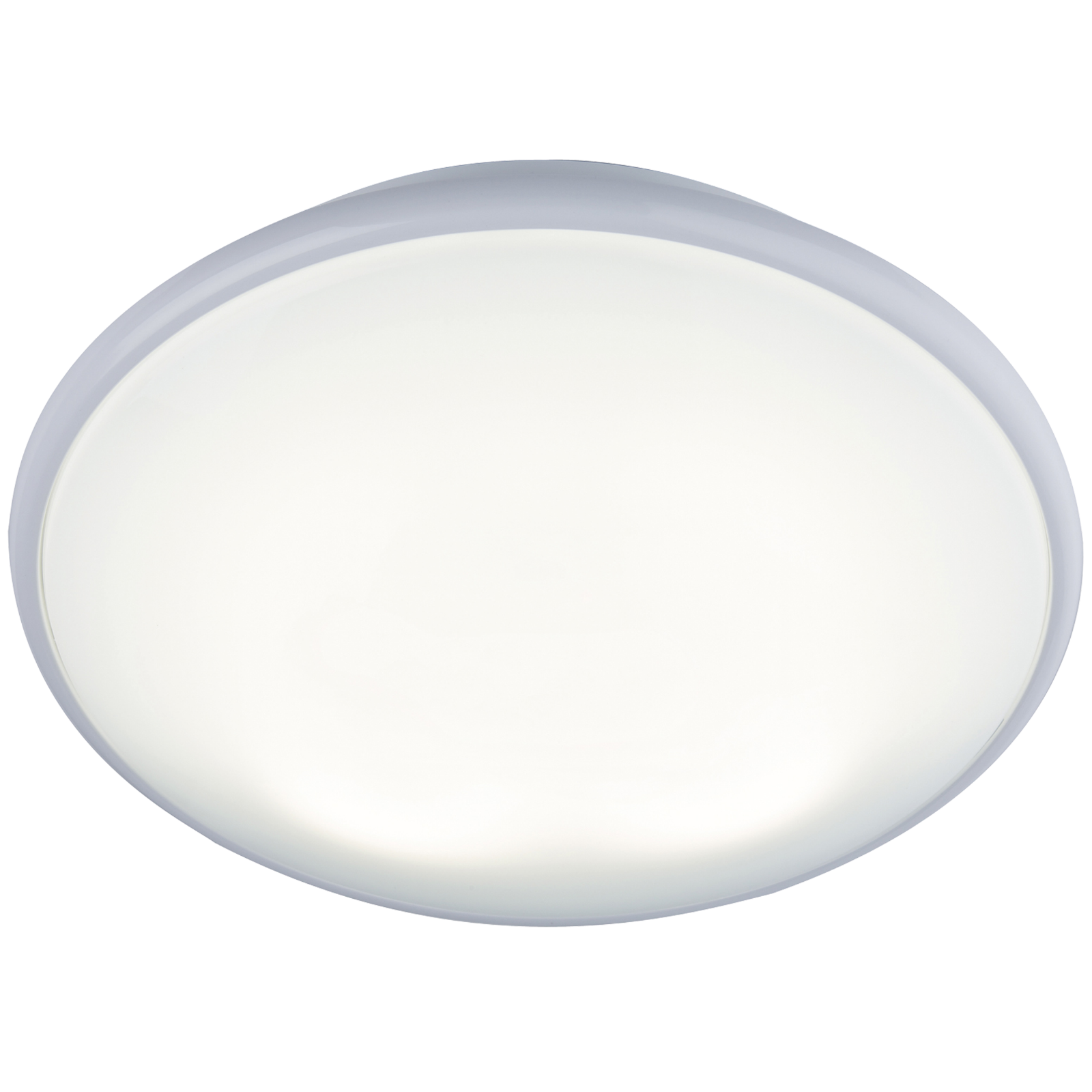 IP20 28W 2D HF Bulkhead with Opal Diffuser and White Base