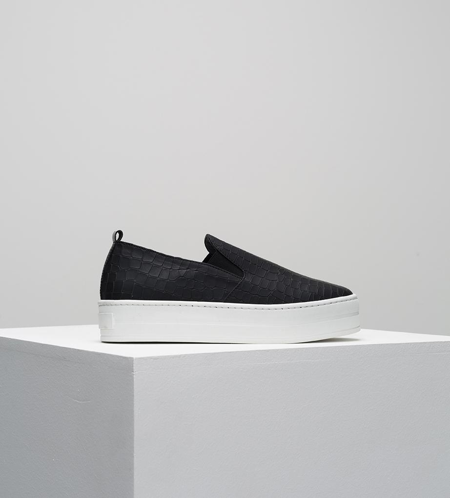 Department of Finery Willow Slip On - Black Croc