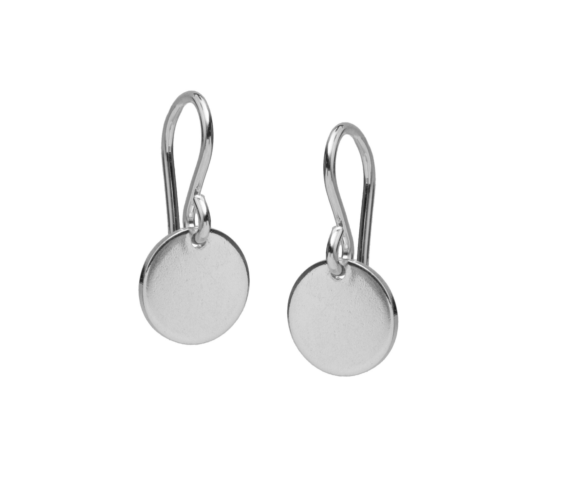 Large Sterling Silver Disc Earrings