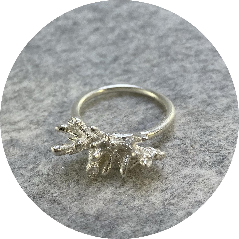 Manuela Igreja- Succulent ring. Sterling silver. size I 1/2