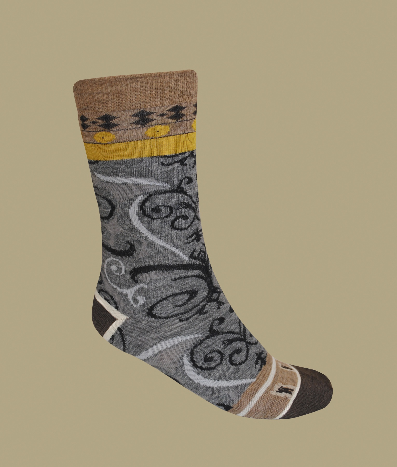 WALL PAPER PATTERN LADIES SOCKS C001