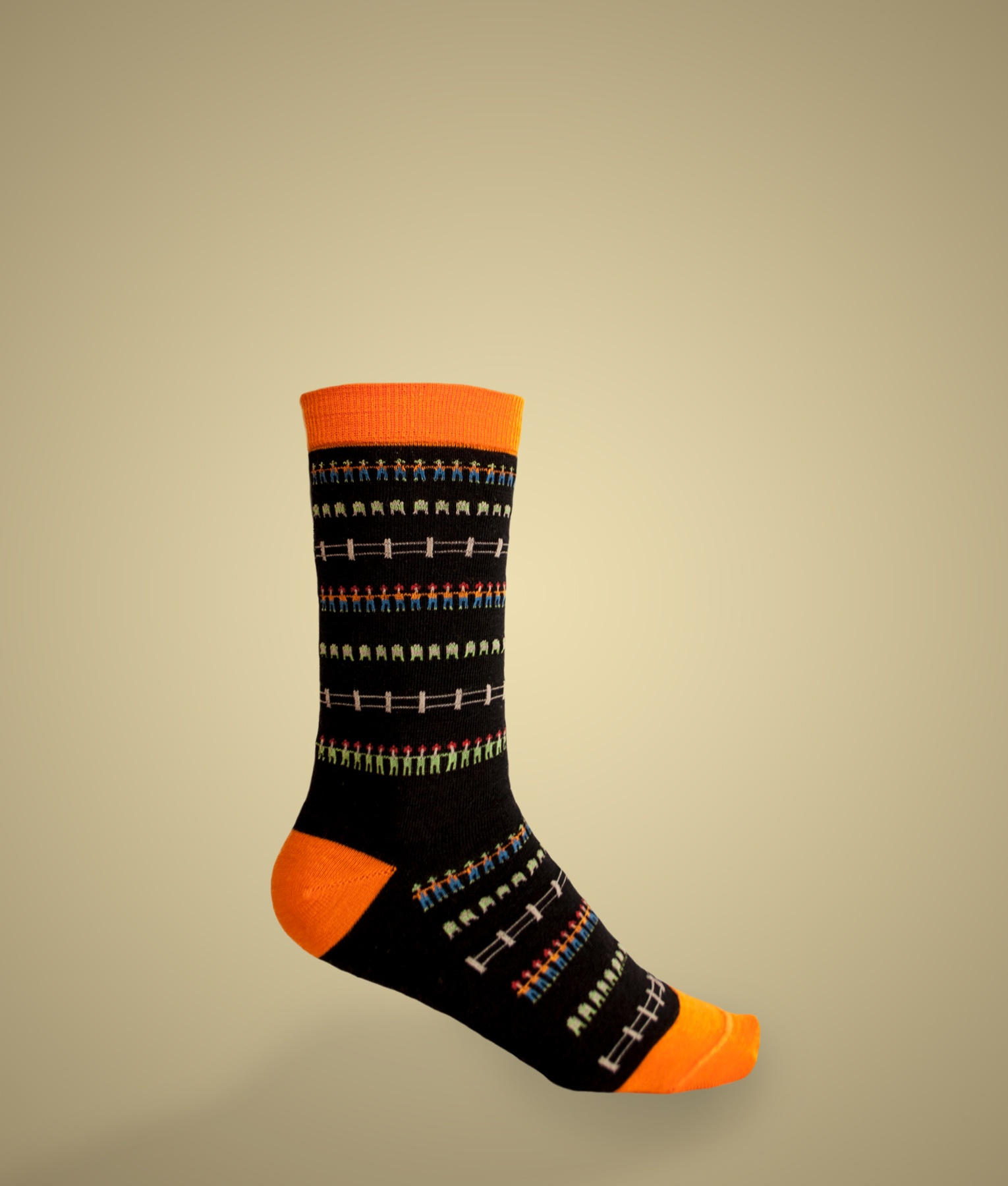 THE VILLAGE JACQUARD SOCKS C002