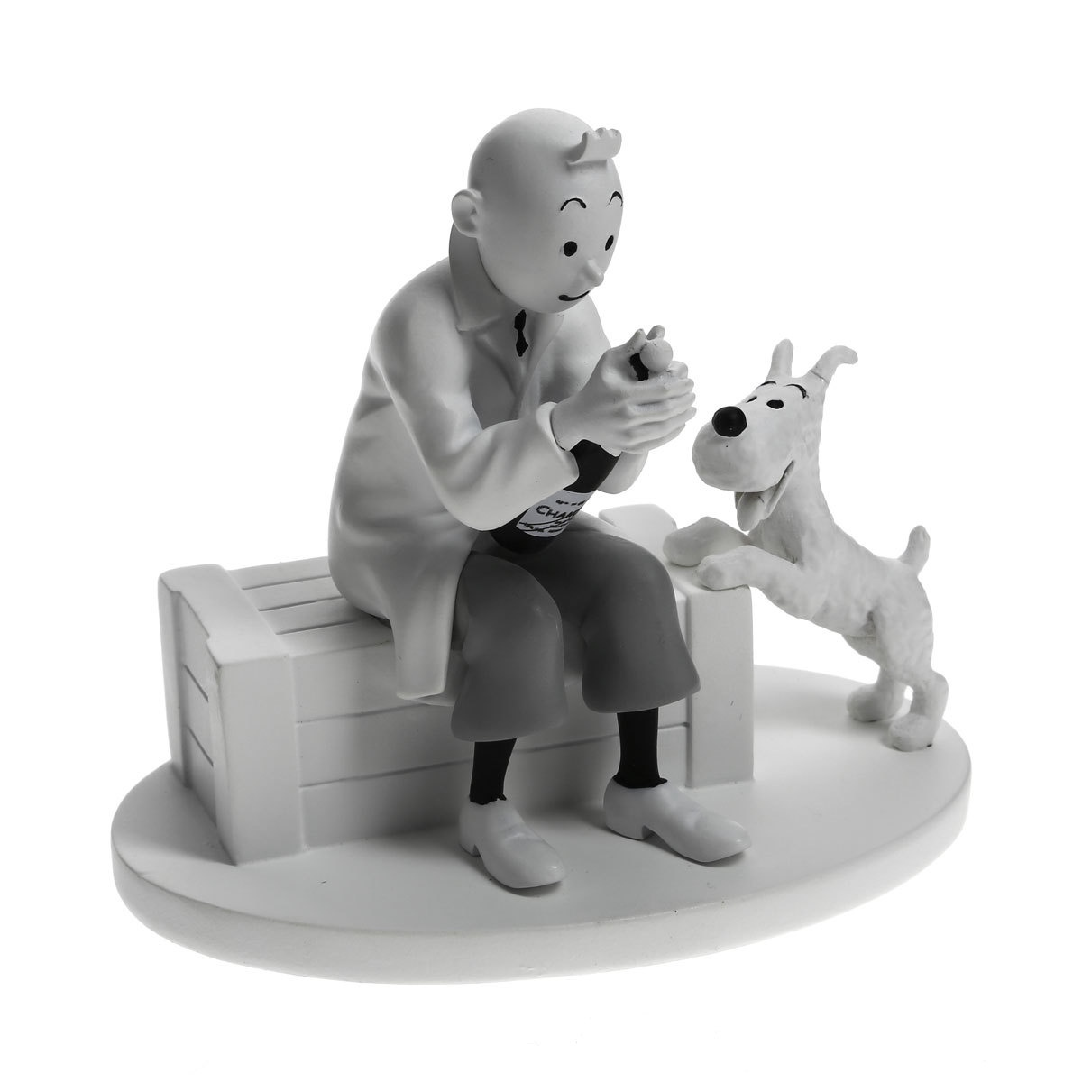 Tintin Special Edition Figurine Tintin Opening Champagne