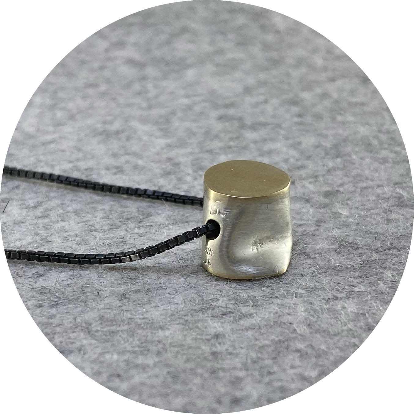 Robyn Clarke - 'Crushed Fine Silver and Gold Pendant', fine silver, 9ct yellow gold, 925 silver