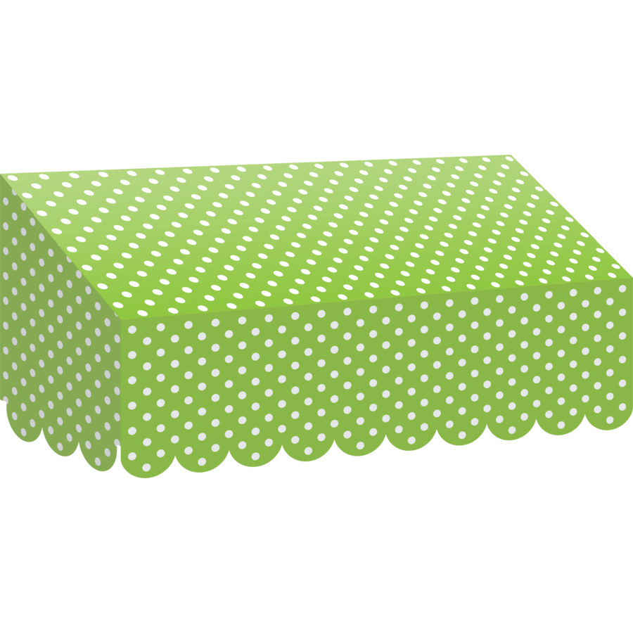 X TCR 77162 LIME POLKA DOTS AWNING