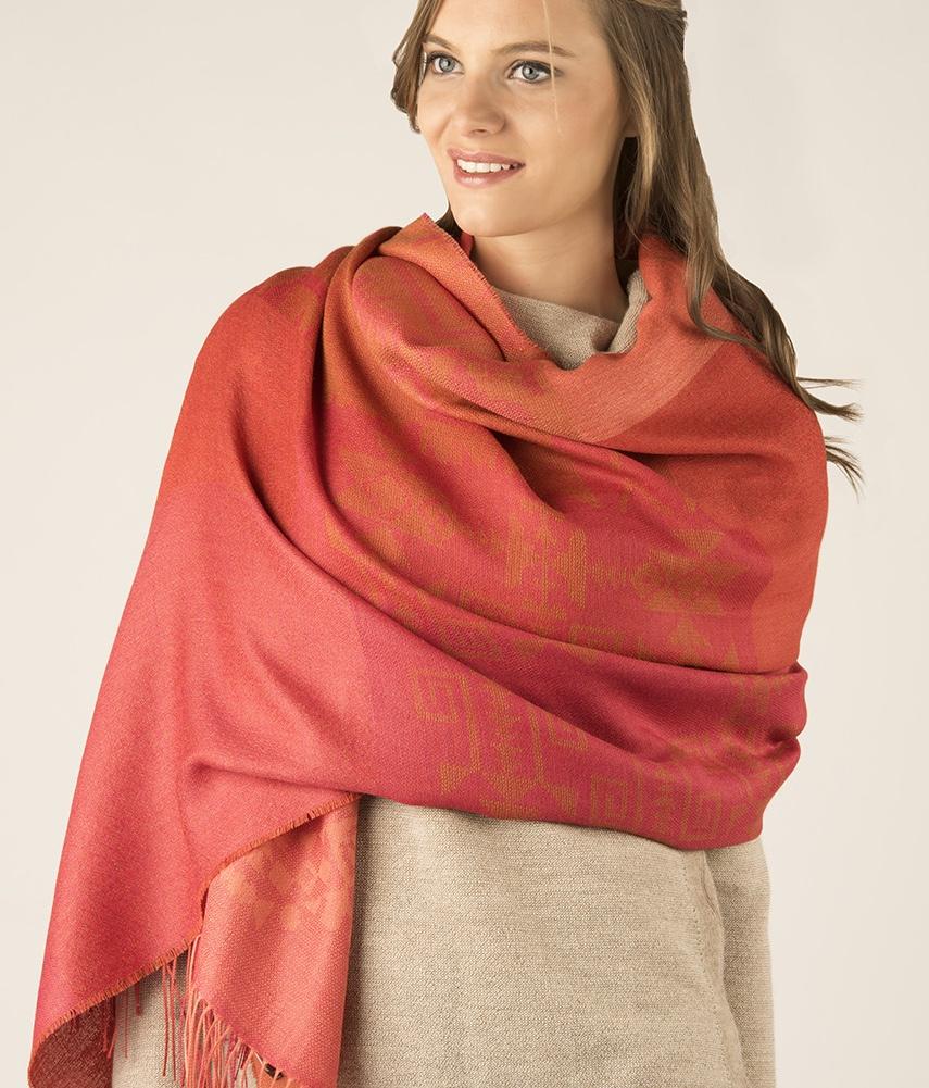 Patchwork shawl C001