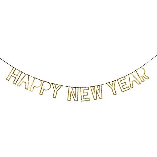 New Year Glitter Garland