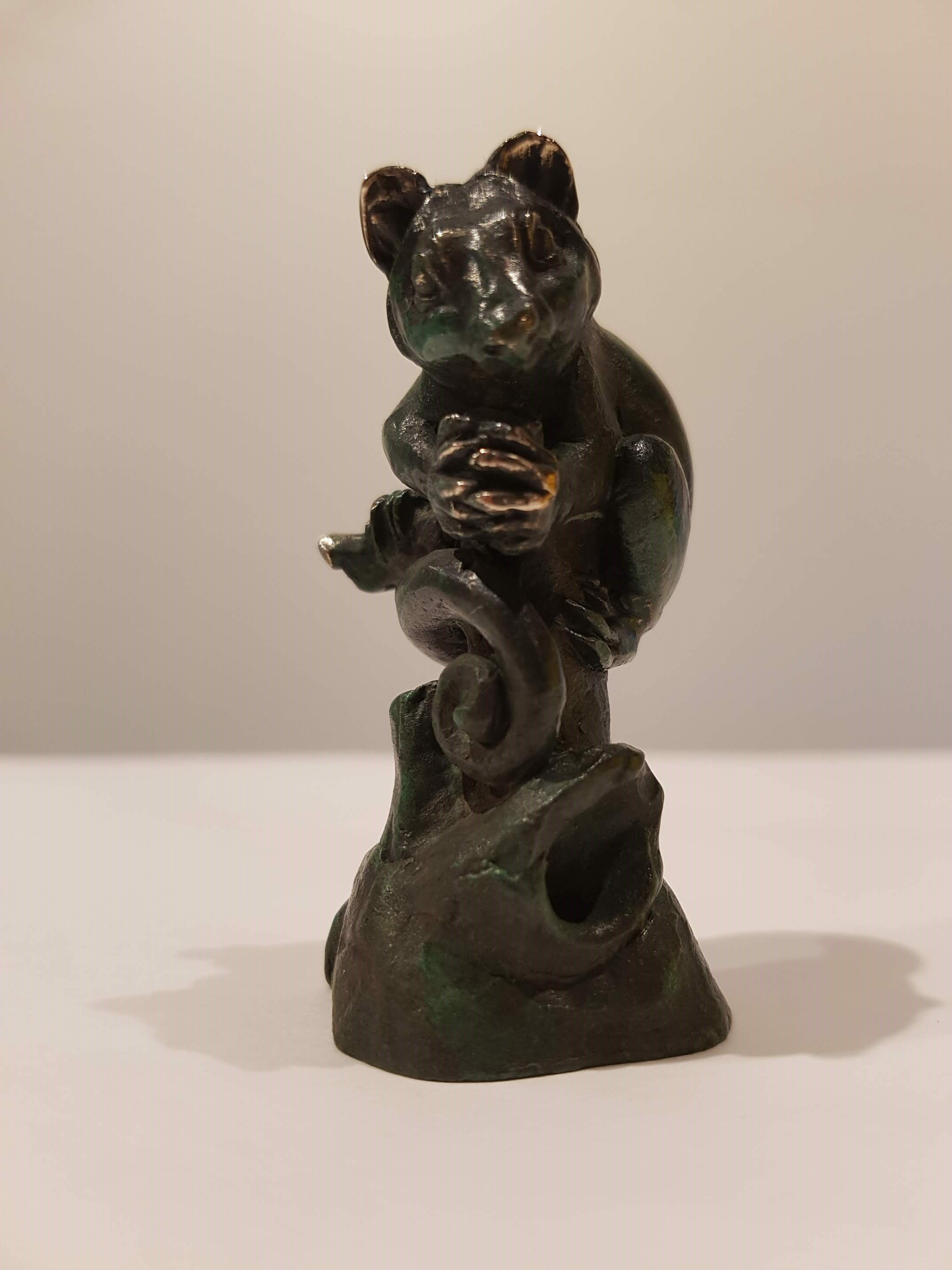 Bronze Miniature Sculpture - Possum on a Stump 5/50 - Silvio Apponyi
