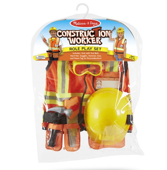 MD 4837 CONSTRUCTION WORKER ROLE PLAY COSTUME