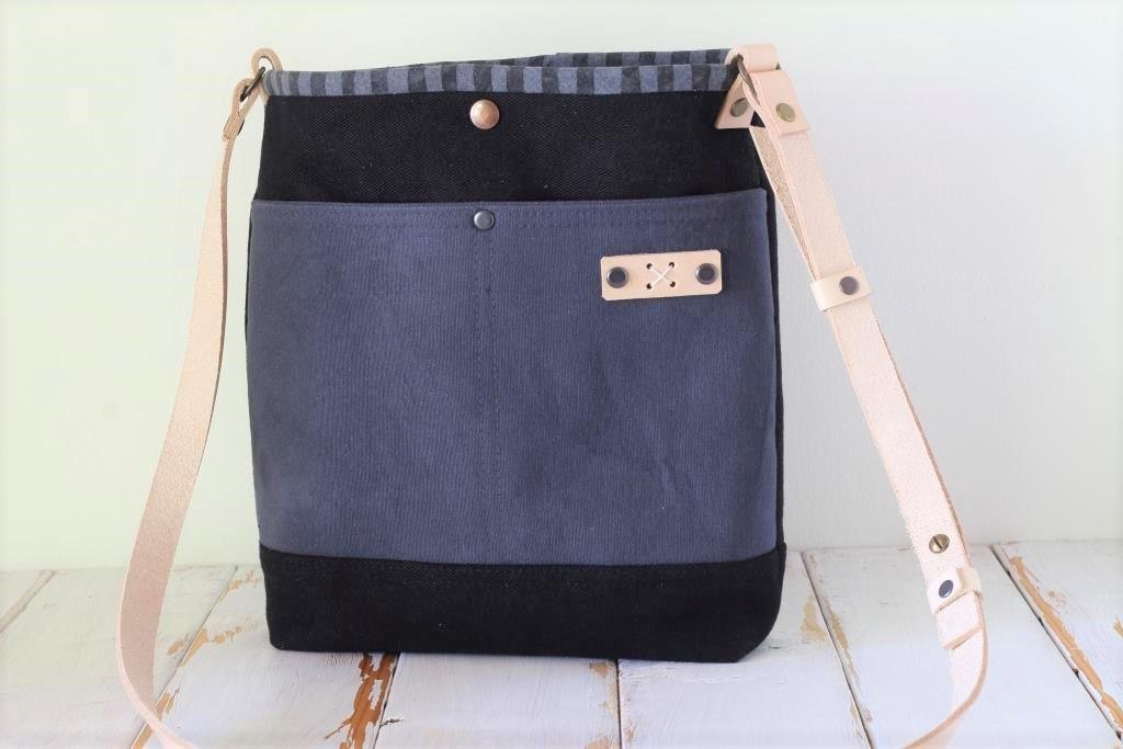 Black and Grey Cross Body Bag