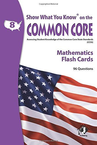 X NA 5802 SHOW WHAT YOU KNOW CC MATH FLASH CARDS 8