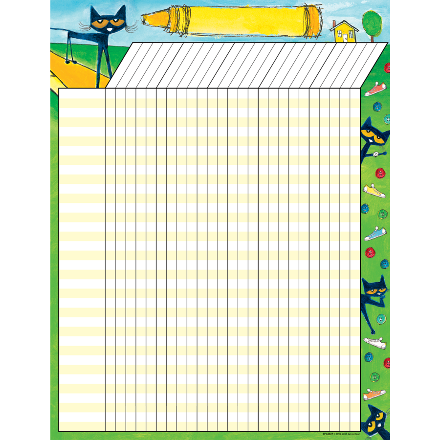 TCR 63927 PETE THE CAT INCENTIVE CHART