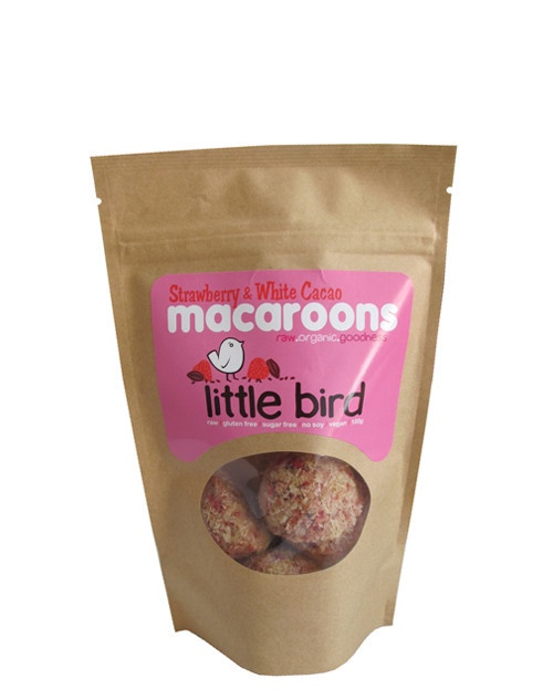 Little Bird Strawberry & White Cacao Macaroon