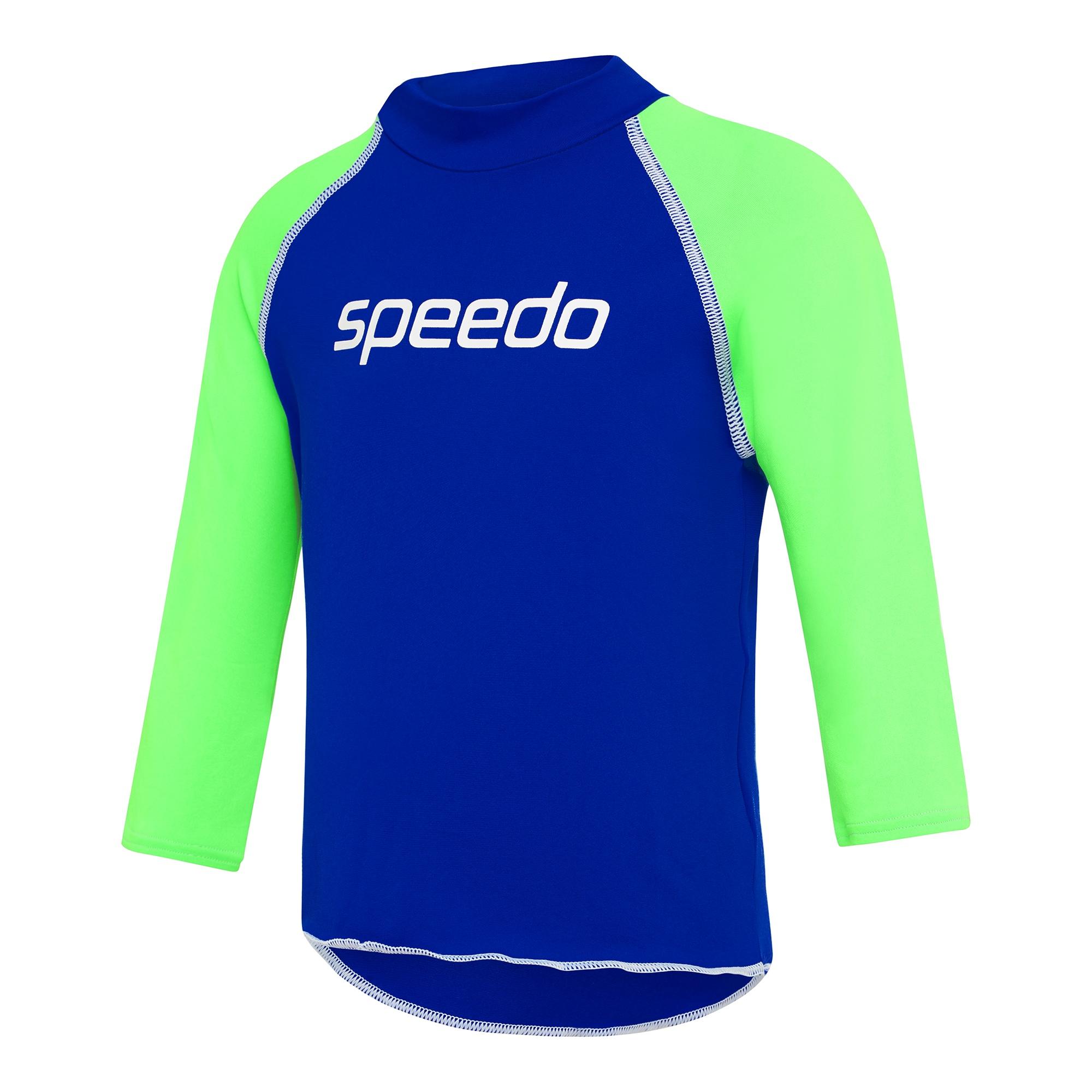 Toddler Boys Logo Long Sleeve Sun Top Speed/Brasil Green