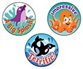 T 6416 SEA ANIMALS/BLUEBERRY STINKY STICKERS