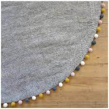 FELT RUG - GREY WITH MUSTARD,NATURAL,CHARCOAL+BLUSH